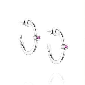Micro Blink Hoops - Pink Sapphire - Efva Attling örhängen - Snabb frakt & paketinslagning - Nordicspectra.se