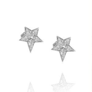 Catch A Falling Star & Stars Ear White Gold - Efva Attling örhängen - Snabb frakt & paketinslagning - Nordicspectra.se