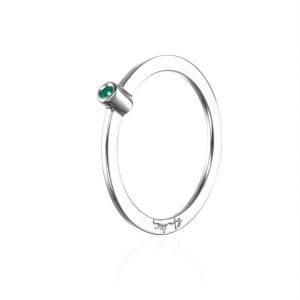 Micro Blink Ring - Green Emerald - Efva Attling ringar - Snabb frakt & paketinslagning - Nordicspectra.se