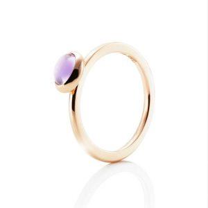 Love Bead Ring Gold - Amethyst - Efva Attling ringar - Snabb frakt & paketinslagning - Nordicspectra.se