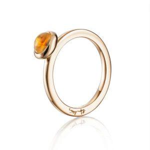 Love Bead Ring Gold - Citrine - Efva Attling ringar - Snabb frakt & paketinslagning - Nordicspectra.se