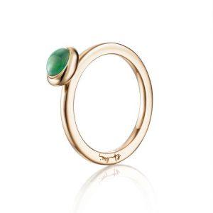 Love Bead Ring Gold - Green Agate - Efva Attling ringar - Snabb frakt & paketinslagning - Nordicspectra.se