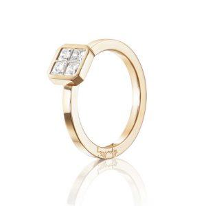4 Love Ring 0.40 ct Gold - Efva Attling ringar - Snabb frakt & paketinslagning - Nordicspectra.se
