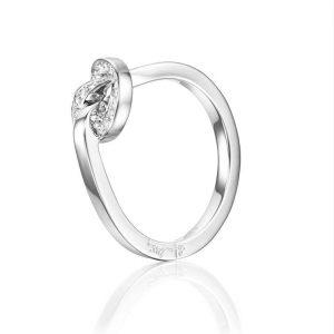 Love Knot & Stars Ring White Gold - Efva Attling ringar - Snabb frakt & paketinslagning - Nordicspectra.se