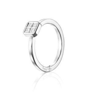 4 Love Ring 0.20 ct White Gold - Efva Attling ringar - Snabb frakt & paketinslagning - Nordicspectra.se