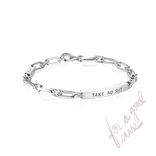 Thin Silver Bracelet - Take No Shit - Efva Attling armband - Snabb frakt & paketinslagning - Nordicspectra.se