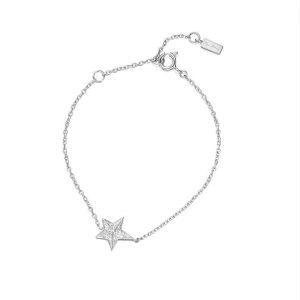 Catch A Falling Star & Stars Bracelet White Gold - Efva Attling armband - Snabb frakt & paketinslagning - Nordicspectra.se