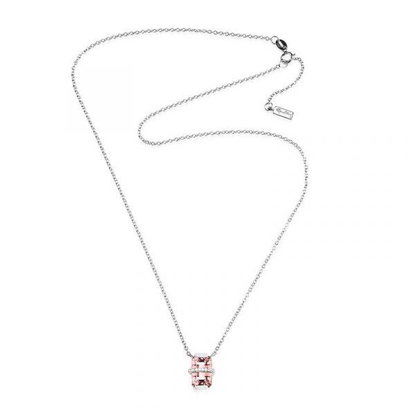 Little Bend Over Necklace - Morganite White Gold - Efva Attling halsband - Snabb frakt & paketinslagning - Nordicspectra.se