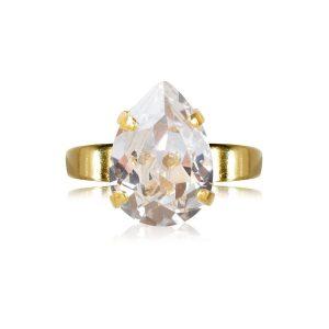 Mini Drop Ring Gold Crystal - Caroline Svedbom - Snabb frakt & paketinslagning - Nordicspectra.se