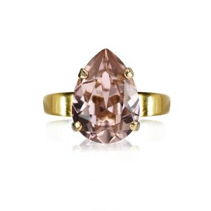 Mini Drop Ring Gold Vintage Rose - Caroline Svedbom - Snabb frakt & paketinslagning - Nordicspectra.se