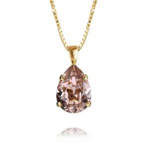 Mini Drop Necklace Gold Vintage Rose - Caroline Svedbom - Snabb frakt & paketinslagning - Nordicspectra.se