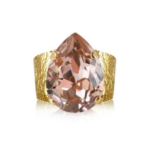 Classic Drop Ring Gold Vintage Rose - Caroline Svedbom - Snabb frakt & paketinslagning - Nordicspectra.se
