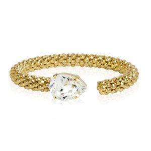 Classic Rope Bracelet Gold Crystal - Caroline Svedbom - Snabb frakt & paketinslagning - Nordicspectra.se