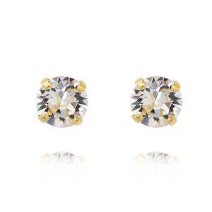 Classic Stud Earring Gold Crystal - Caroline Svedbom - Snabb frakt & paketinslagning - Nordicspectra.se