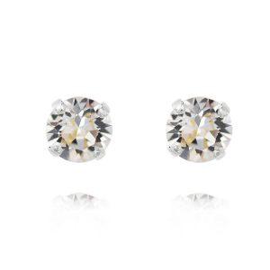 Classic Stud Earring Rhodium Crystal - Caroline Svedbom - Snabb frakt & paketinslagning - Nordicspectra.se