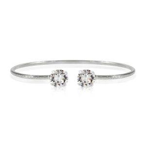 Classic Petite Bracelet Rhodium Crystal - Caroline Svedbom - Snabb frakt & paketinslagning - Nordicspectra.se