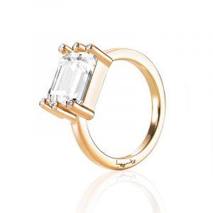 Beautiful Dreamer Ring - Crystal Quartz Gold - Efva Attling ringar - Snabb frakt & paketinslagning - Nordicspectra.se