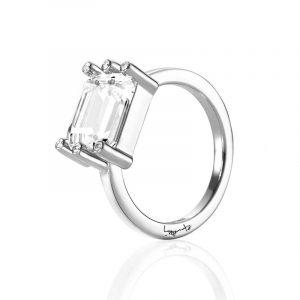 Beautiful Dreamer Ring - Crystal Quartz White Gold - Efva Attling ringar - Snabb frakt & paketinslagning - Nordicspectra.se