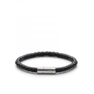 Leather Bracelet Silver - Black - Skultuna - Snabb frakt & paketinslagning - Nordicspectra.se