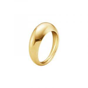 Curve Ring Slim Guld - Georg Jensen ringar - Snabb frakt & paketinslagning - Nordicspectra.se