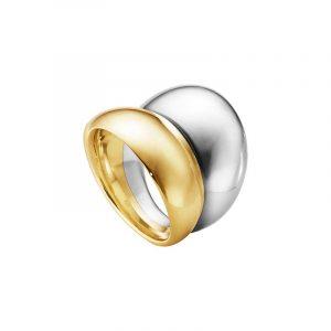 Curve Ring Silver & Guld - Georg Jensen ringar - Snabb frakt & paketinslagning - Nordicspectra.se