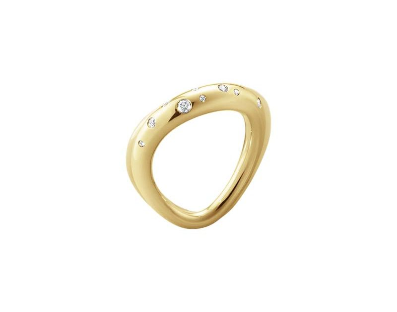 Georg Jensen Offspring Ring Guld med Diamanter