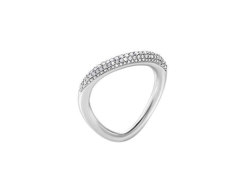 Georg Jensen Offspring Ring med Pavéinfattade Diamanter