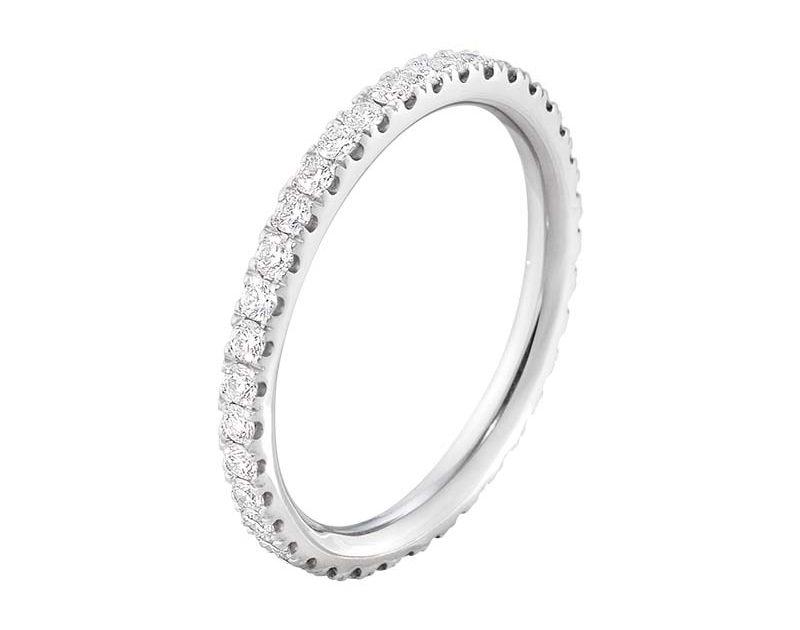Georg Jensen Aurora Allians Vitguld med Diamanter 0.46 ct