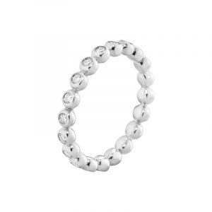 Aurora Ring Vitguld med Diamanter 0.28 ct - Georg Jensen ringar - Snabb frakt & paketinslagning - Nordicspectra.se