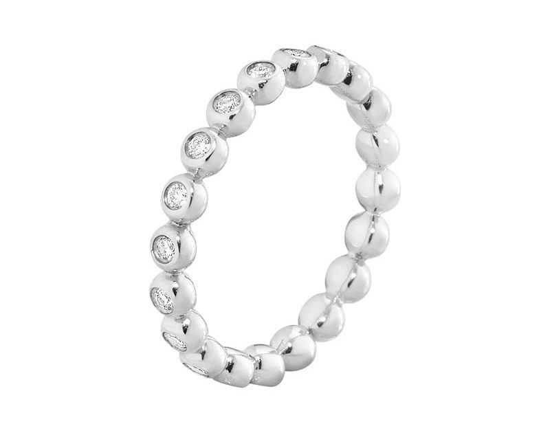 Georg Jensen Aurora Ring Vitguld med Diamanter 0.28 ct