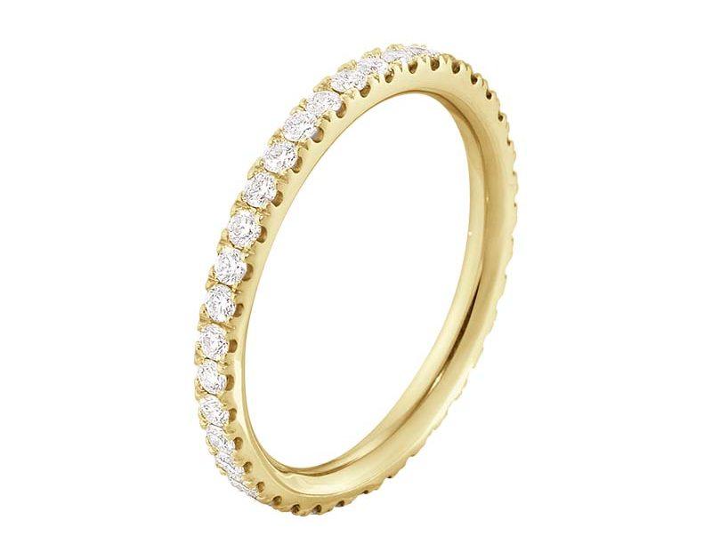 Georg Jensen Aurora Allians Guld med Diamanter 0.46 ct