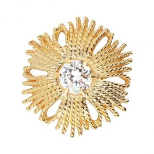 Gatsby Stone Brosch Gold -CU Jewellery - Snabb frakt & paketinslagning - Nordicspectra.se