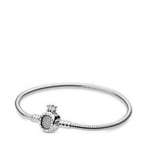 Moments Crown O & Snake Chain Armband - PANDORA - Snabb frakt & paketinslagning - Nordicspectra.se