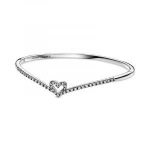 Gnistrande Wishbone Heart Armring - PANDORA - Snabb frakt & paketinslagning - Nordicspectra.se