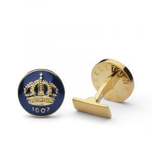 Manschettknappar The Crown Guld Royal Blue - Skultuna - Snabb frakt & paketinslagning - Nordicspectra.se