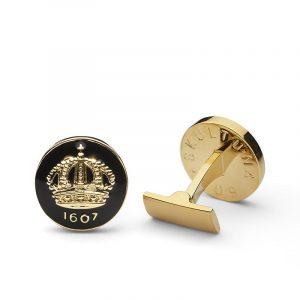 Cuff Links Crown Baroque Black Gold Plated - Skultuna - Snabb frakt & paketinslagning - Nordicspectra.se