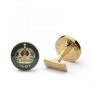 Cuff Links Crown Racing Green Gold Plated - Skultuna - Snabb frakt & paketinslagning - Nordicspectra.se