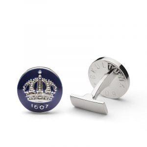 Cuff Links Crown Royal Blue Silver Plated - Skultuna - Snabb frakt & paketinslagning - Nordicspectra.se