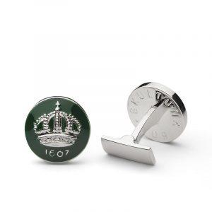 Cuff Links Crown Racing Green Silver Plated - Skultuna - Snabb frakt & paketinslagning - Nordicspectra.se