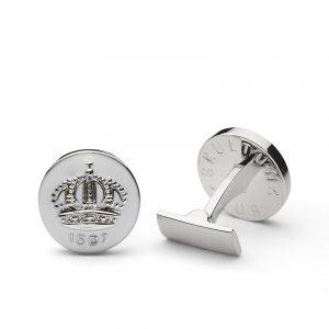 Manschettknappar The Crown Silver Ivory Vit - Skultuna - Snabb frakt & paketinslagning - Nordicspectra.se