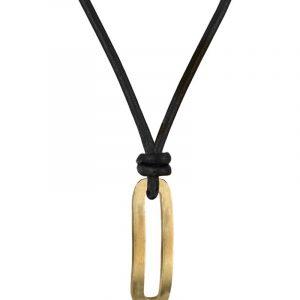 BENJAMIN Läder Halsband Guld - AROCK - Snabb frakt & paketinslagning - Nordicspectra.se