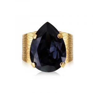 Classic Drop Ring Gold Graphite - Caroline Svedbom - Snabb frakt & paketinslagning - Nordicspectra.se