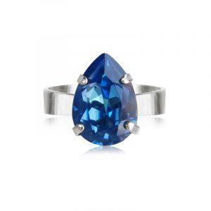 Mini Drop Ring Rhodium Royal Blue Delite - Caroline Svedbom - Snabb frakt & paketinslagning - Nordicspectra.se