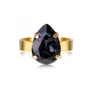 Mini Drop Ring Gold Graphite - Caroline Svedbom - Snabb frakt & paketinslagning - Nordicspectra.se