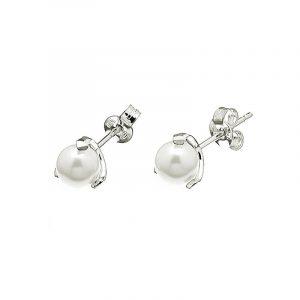 Pearl Stud Ear Silver -CU Jewellery - Snabb frakt & paketinslagning - Nordicspectra.se