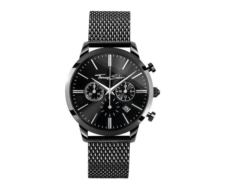 Thomas Sabo Klocka Rebel Spirit Kronograf All Black 42 mm