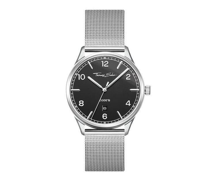 Thomas Sabo Klocka Code TS Silver/Svart 40 mm