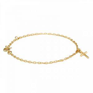 Branch Cross Bracelet Gold - Emma Israelsson - Snabb frakt & paketinslagning - Nordicspectra.se