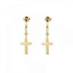 Branch Cross Earrings Gold - Emma Israelsson - Snabb frakt & paketinslagning - Nordicspectra.se