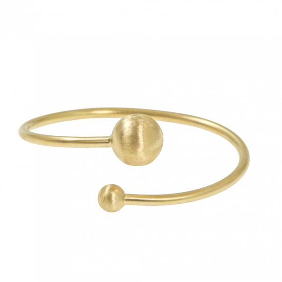Feather Bangle Brace Flex Gold -CU Jewellery - Snabb frakt & paketinslagning - Nordicspectra.se
